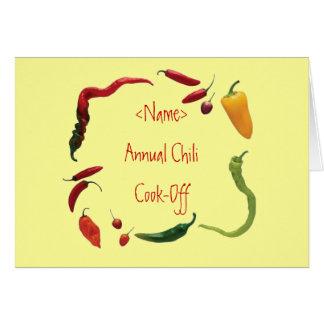 Chili Invite Card