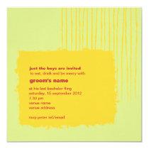 Chili Lemon Bachelor Party Invitation