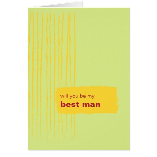 Chili Lemon Be My Best Man Card