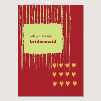 Chili Lemon Be My Bridesmaid Card