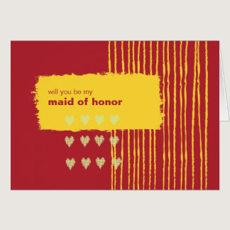 Chili Lemon Be My Maid of Honor Card
