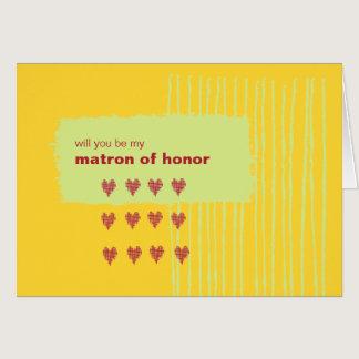 Chili Lemon Be My Matron of Honor Card