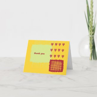 Chili Lemon Thank You Note Card card