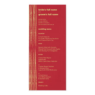 Chili Lemon Wedding Menu Card