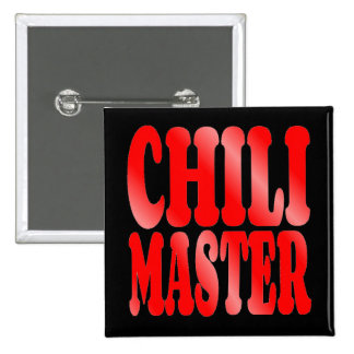 Chili Master in Red 2 Inch Square Button