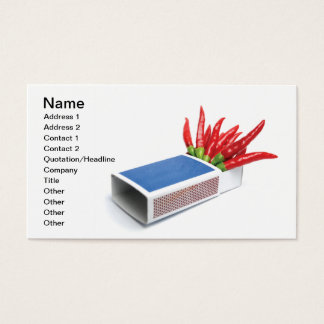 Chili matches business card