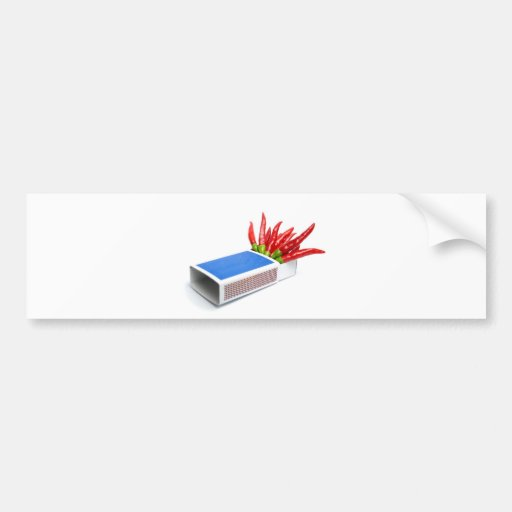 Chili matches car bumper sticker