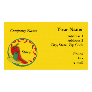 Chili Pepper Business Card