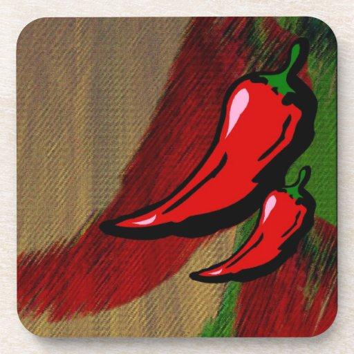 Chili Pepper Coaster