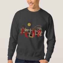 Chili Pepper Cowboys Embroidered Sweatshirt