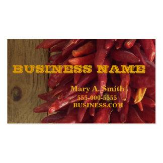 Chili pepper design business card