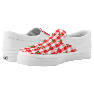Chili Pepper Gingham Slip-On Sneakers
