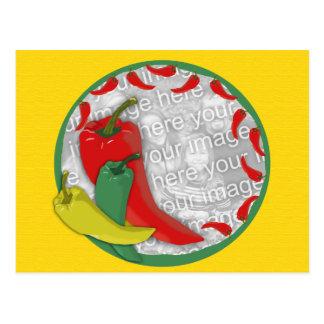 Chili Pepper Group Circle Frame2 Postcard