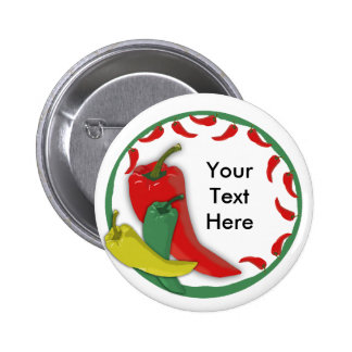 Chili Pepper Group Circle Frame3 2 Inch Round Button