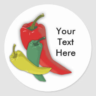 Chili Pepper Group Classic Round Sticker