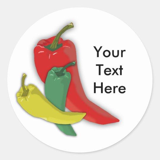Chili Pepper Group Classic Round Sticker