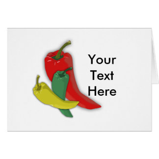 Chili Pepper Group Greeting Card
