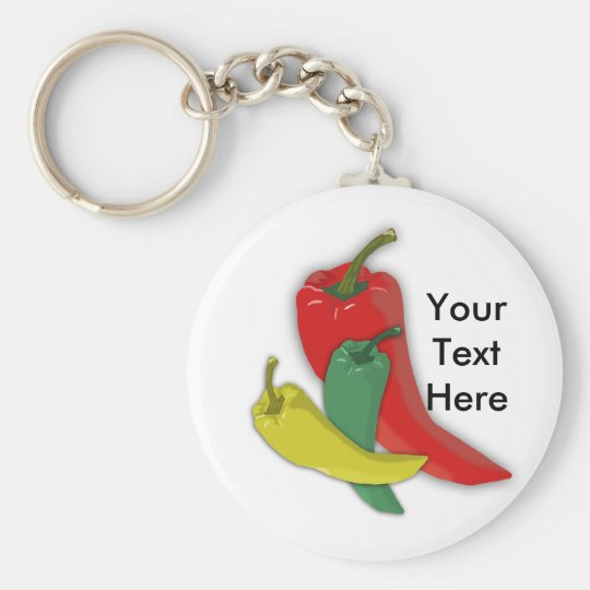 Chili Pepper Group Keychain