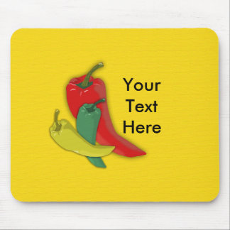 Chili Pepper Group Mouse Pad