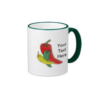 Chili Pepper Group Ringer Mug