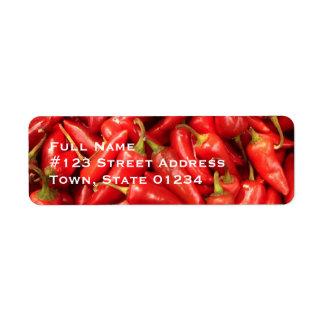 Chili Pepper Mailing Labels