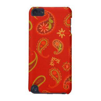 Chili Pepper Red and Lime Green Paisley Pattern iPod Touch (5th Generation) Case