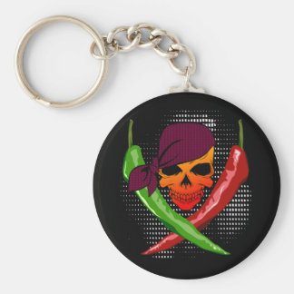 Chili Pepper Skull & Cross-Peppers $8.95 Key Chain