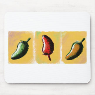 Chili pepper slots mouse pad