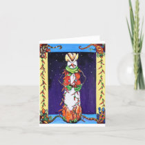 Chili Pepper Snowman Blank Holiday Card