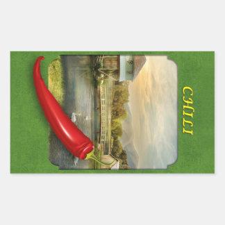 Chili pepper Sticker or garden albel by Bestpeole