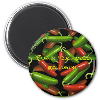 Chili Peppers 2 Inch Round Magnet