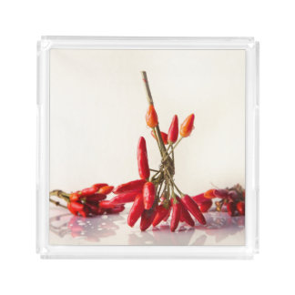 Chili Peppers Acrylic Tray