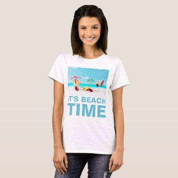 Beach Themed Chili Peppers Beach Time Funny custom T-Shirt