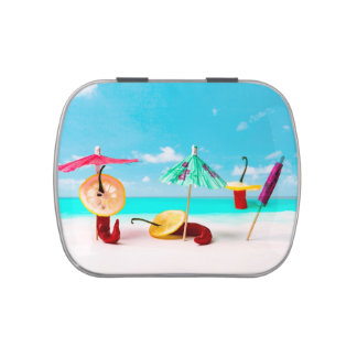 Chili Peppers By The Sea Candy Tin