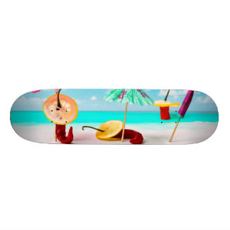 Chili Peppers By The Sea Skateboard