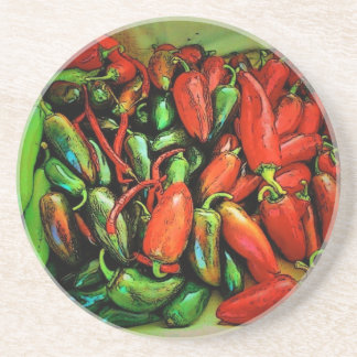 Chili Peppers Coaster