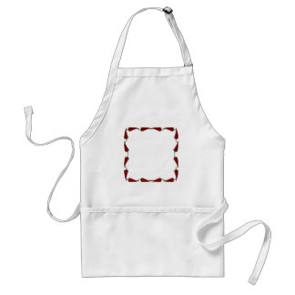 Chili peppers end to end frame graphic adult apron