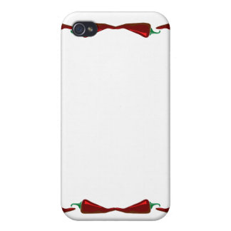 Chili peppers end to end frame graphic iPhone 4 case
