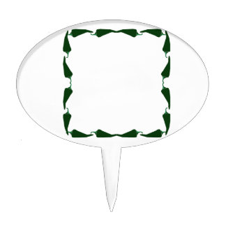 Chili peppers green end to end frame graphic.png cake topper