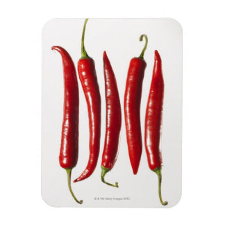 Chili Peppers in a Row Magnet