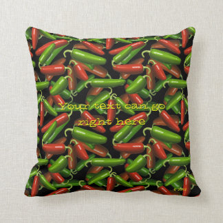 Chili Peppers Throw Pillows