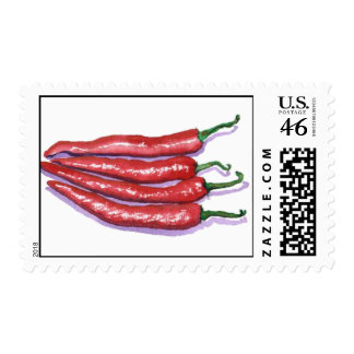 Chili Peppers Postage Stamps