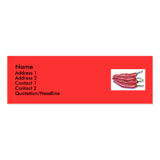 Chili Peppers Profile Card Business Cards
