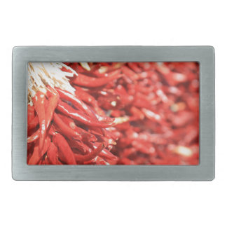 Chili peppers rectangular belt buckle