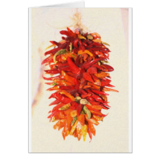 Chili Peppers Ristra Decoration Card