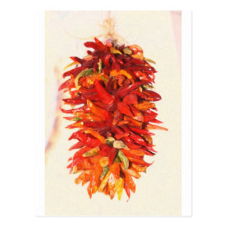 Chili Peppers Ristra Decoration Postcard