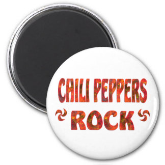 CHILI PEPPERS ROCK 2 INCH ROUND MAGNET