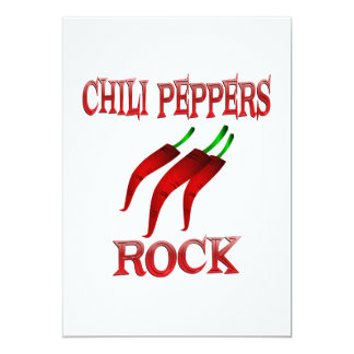 Chili Peppers Rock Card