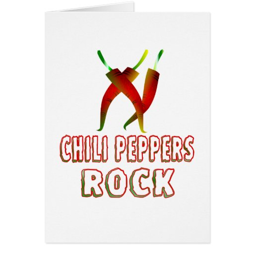 Chili Peppers Rock Greeting Card