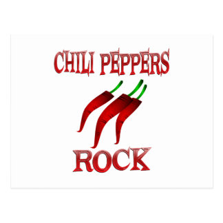 Chili Peppers Rock Postcard